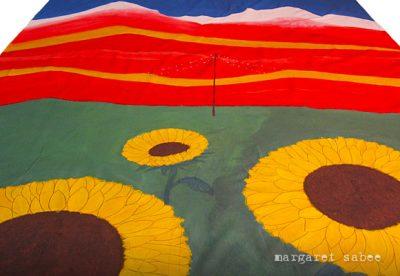 """""""Favoriete land"""" wade van Margaret Sabee Weefkunst Den Haag"""