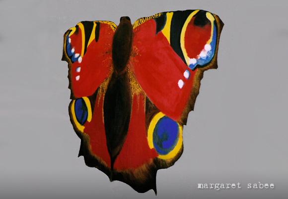 Grote vlinder wade van Margaret Sabee Weefkunst Den Haag